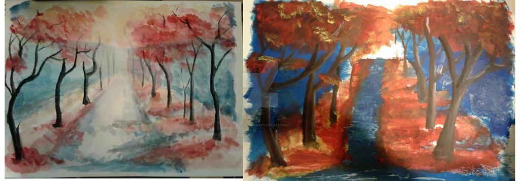 Acrylic Vs Water Painting