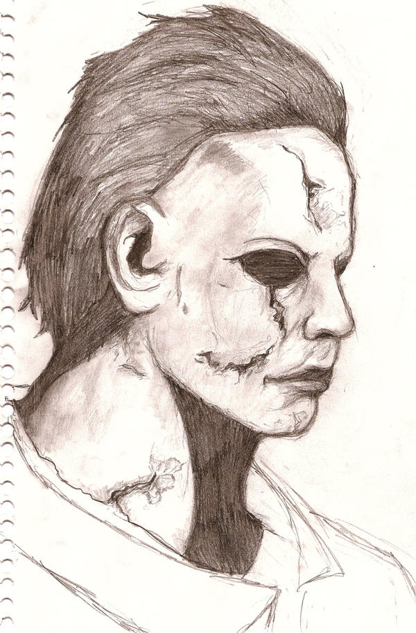 How to draw michAEL MYERS