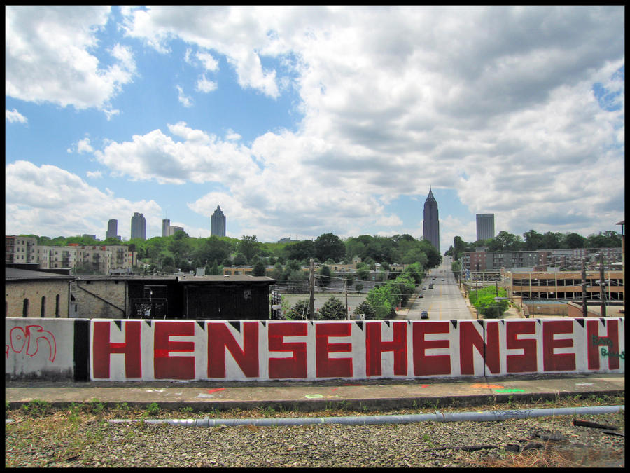 Atlanta from North Avenue by wiebkefesch