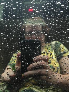 Self-Portrait in Raindrops