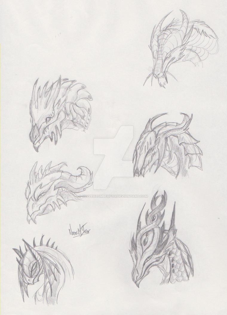 Dragon Face Designs by FuzzehZombehFox