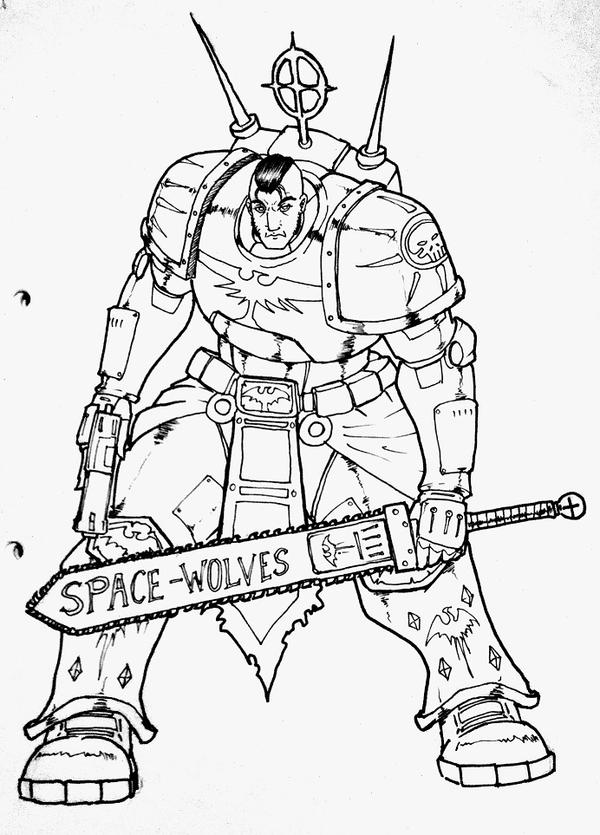 SPACE MARINE 40K by JACK-GARCIA