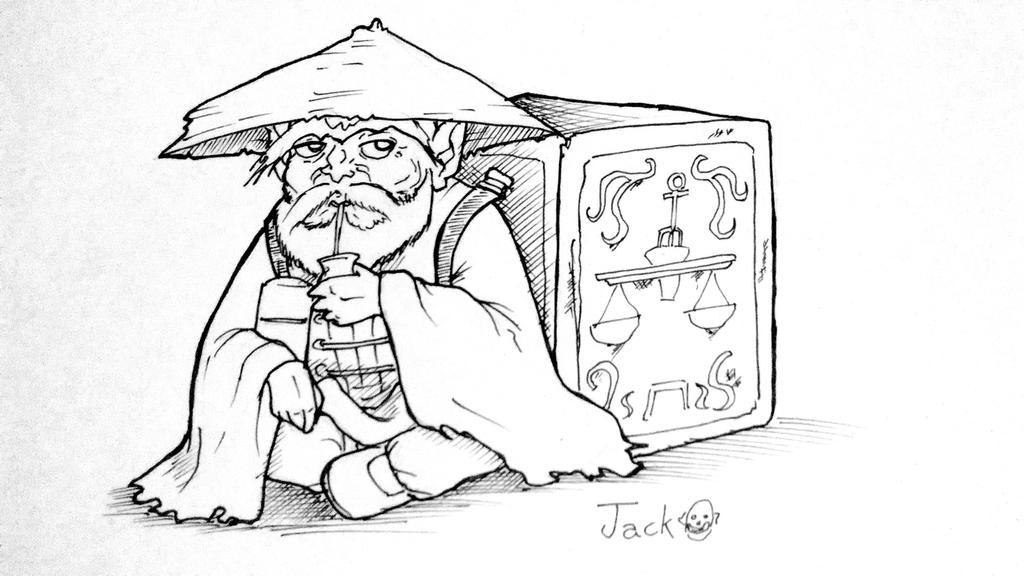 Dohko Mateando by JACK-GARCIA