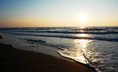 Italy Beach Sunrise by whisperwish