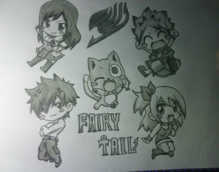 Fairy Tail Drawings Chibi