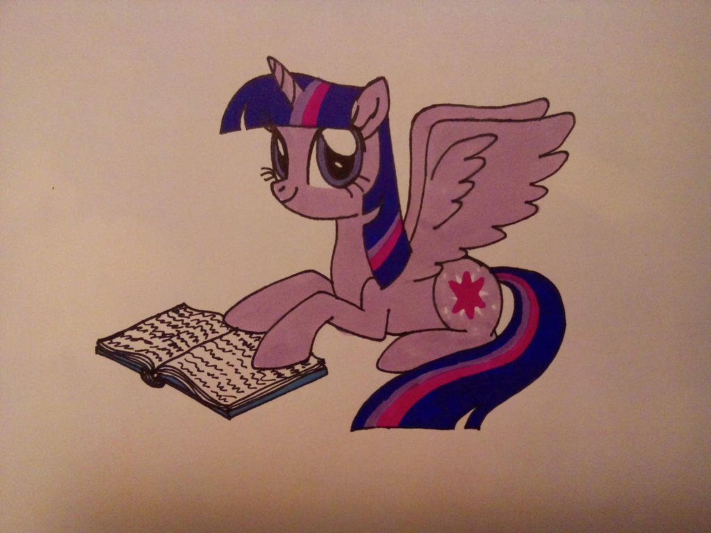 Reading Twilight by Dragon-hobbit101