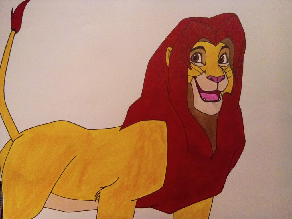 Lion King-Adult Simba by Dragon-hobbit101