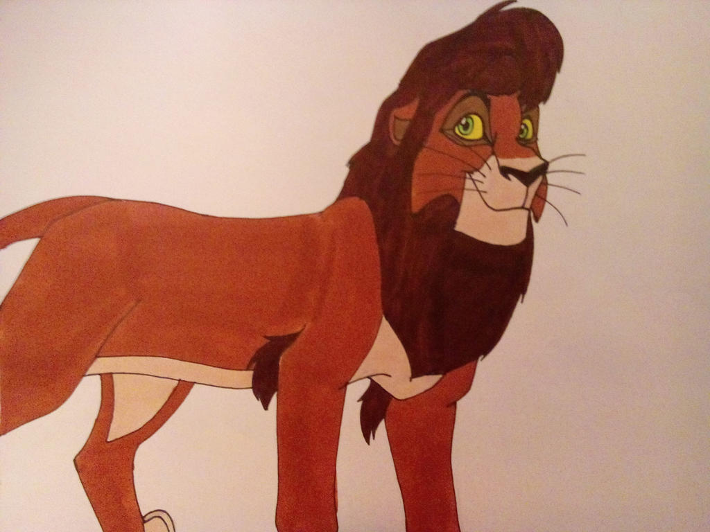 Lion King2-Adult Kovu by Dragon-hobbit101