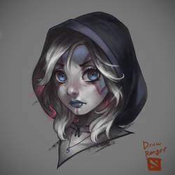 Dota 2 - Drow Ranger by yukionetwo