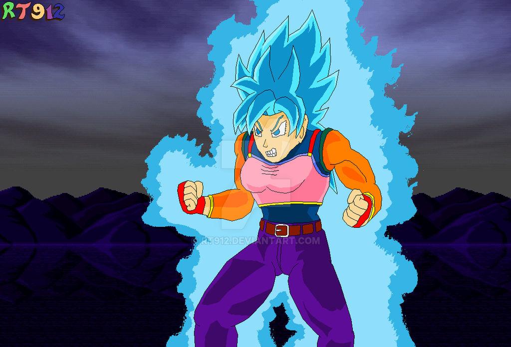 Super Saiyan Blue Brachi Powering Up