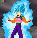 Super Saiyan Blue Brachi going all out