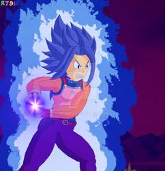 Super Saiyan Blue Evolved Brachi Attacking