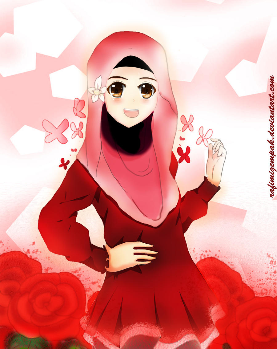 Gambar Wanita Explore Deviantart Gambar Anime Muslim Cantik Di