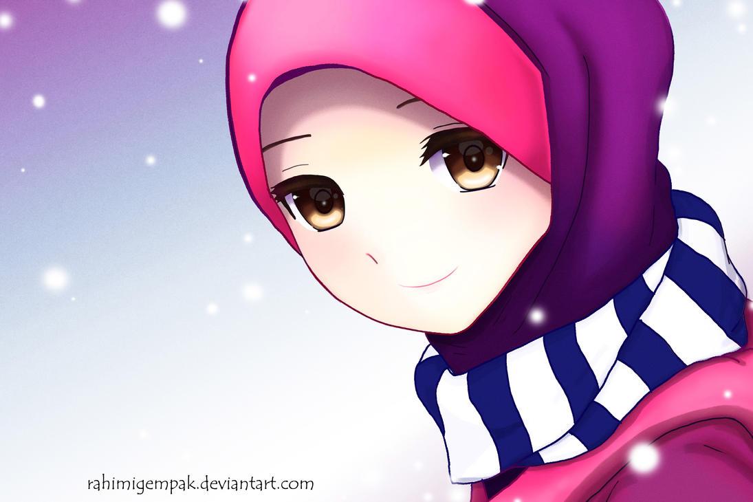 Muslim Anime Qaimasarah Its Snowing By