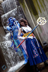 Yuna: Summoner and Aeon by VandorWolf