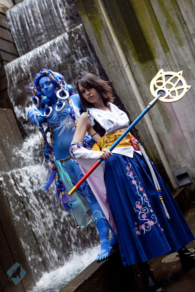 Yuna: Summoner and Aeon by VandorWolf