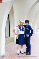 Sailor Moon: Seiya and Usagi by VandorWolf