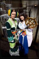 Summoner Yuna and Belgemine by VandorWolf