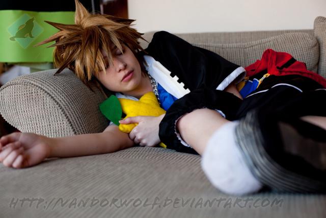 Kingdom Hearts: Sleepy Time Sora by VandorWolf