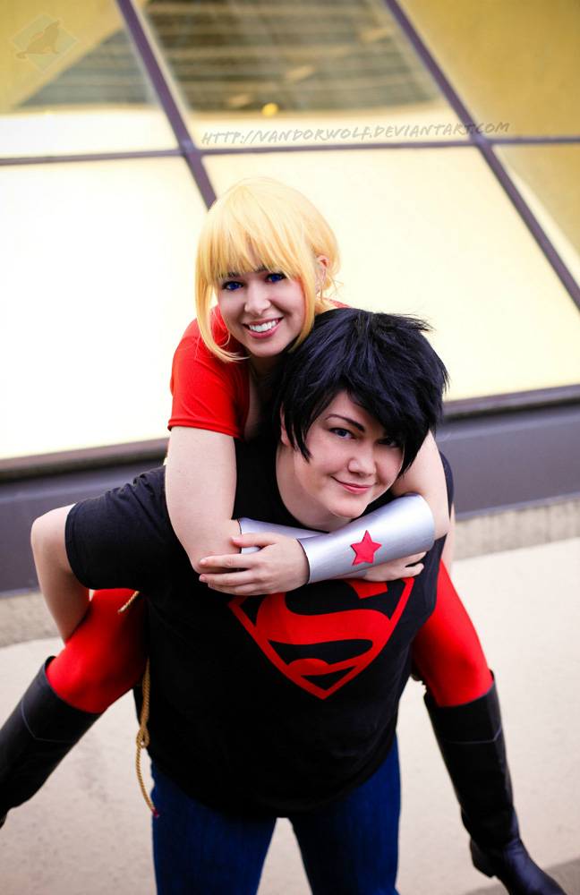 Teen Titans: Cassie and Connor by VandorWolf