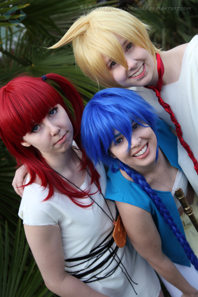 Magi- Aladdin, Alibaba, Morgiana by VandorWolf