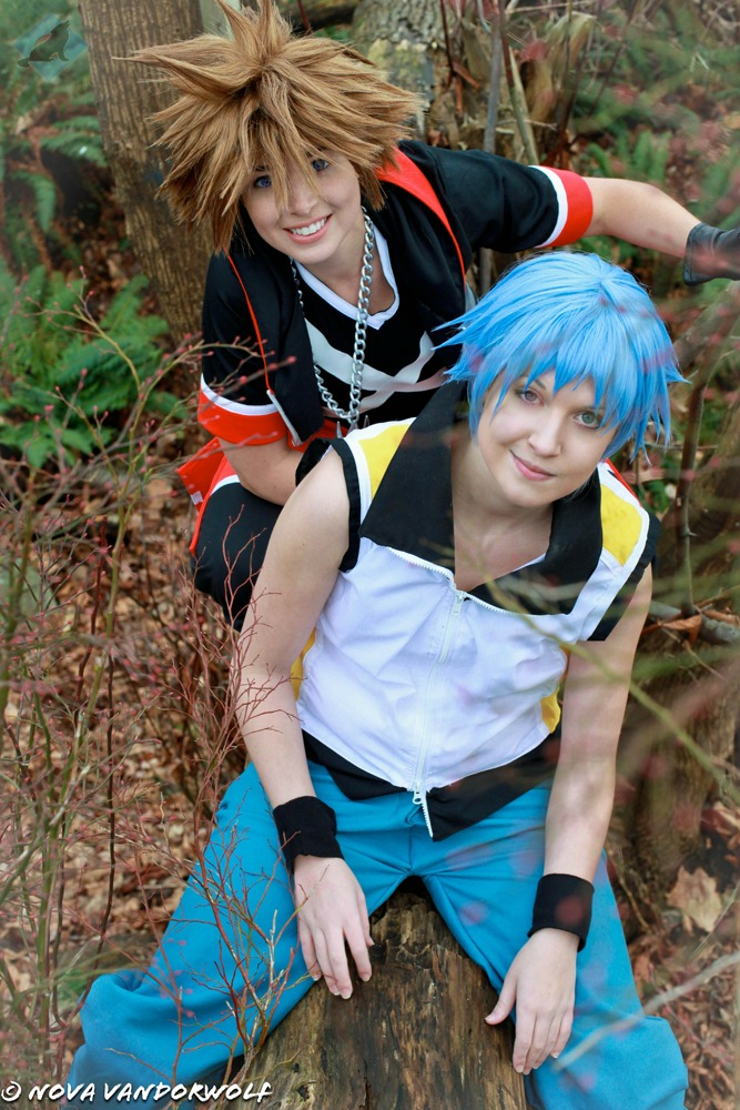 Kingdom Hearts: Dream Drop Distance Sora and Riku by VandorWolf