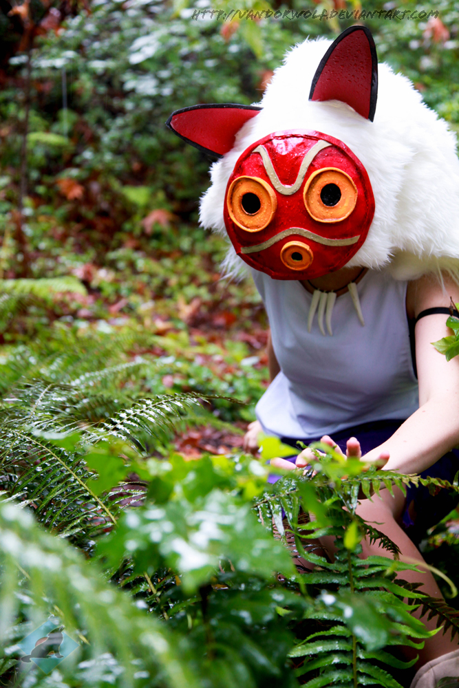 Princess Mononoke- San the Wolf Girl by VandorWolf