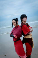 Avatar The Last Airbender: Azula and Zuzu by VandorWolf