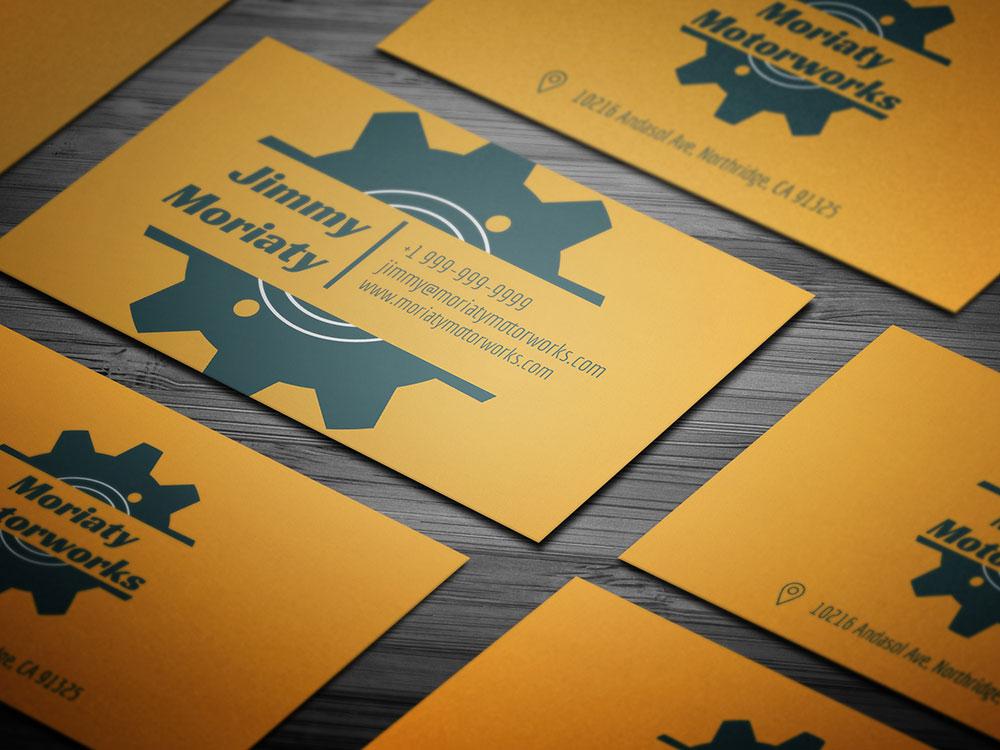 Minimal Mechanic Business Card