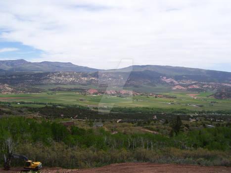 Mountain Top View Town