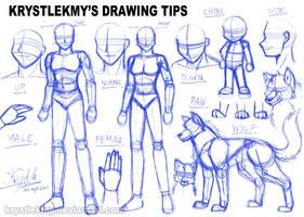 Krystlekmy's Drawing Tips by krystlekmy