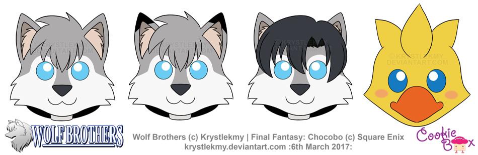 Wolf Brothers and Chocobo Cookies 01 by krystlekmy