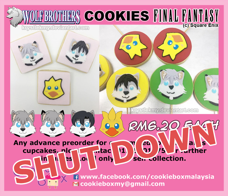Wolf Brothers and Chocobo Cookies +SHUT DOWN+ by krystlekmy