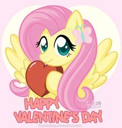 MLP FiM Fluttershy - Happy Valentine's Day by krystlekmy