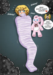 GIFT: Aaron in web cocoon for Ry Ungo -GID- by krystlekmy