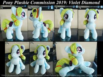 Pony Plushie Commission (Violet Diamond) 01 by krystlekmy