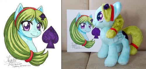 Bonus Art n Pony Plushie Com (Violet Diamond) 01 by krystlekmy