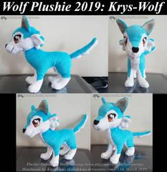 Wolf Plushie - Krys-Wolf 01 by krystlekmy