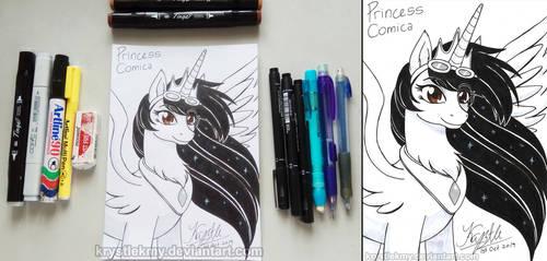 1st Inktober 2019 - Princess Comica