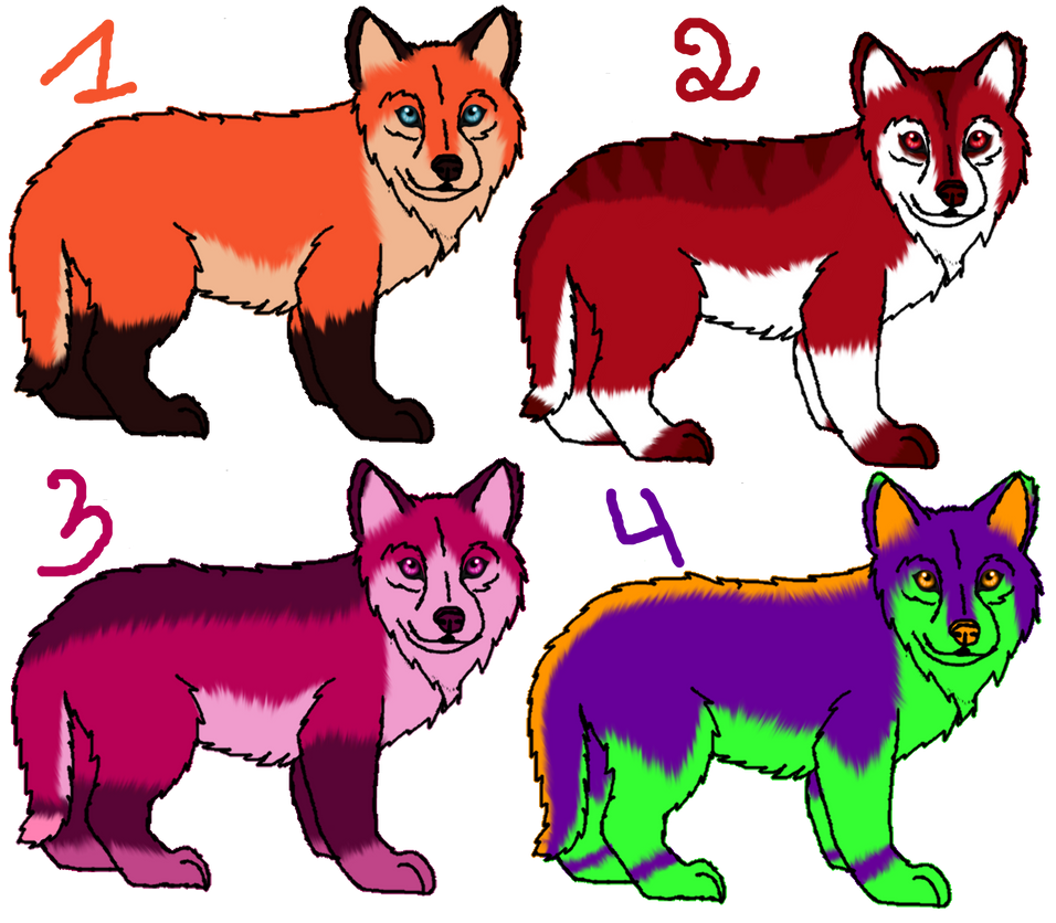 adoptables canines by NaraWolfFH