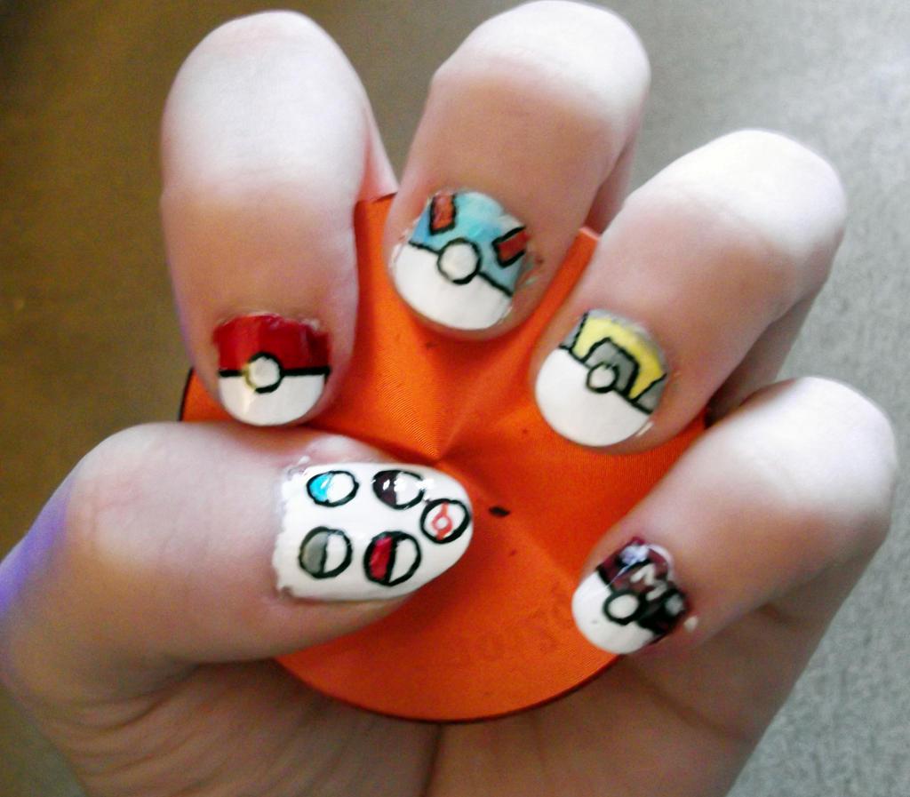 pokeball nail art by sonic rain dashie traditional art body art ...