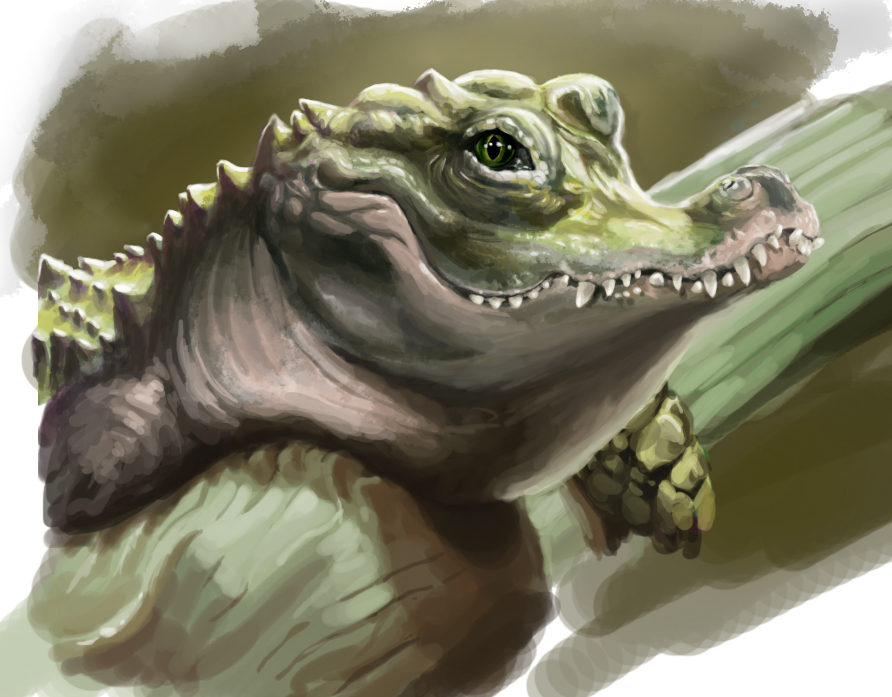 Crocodile caricature by claireGary