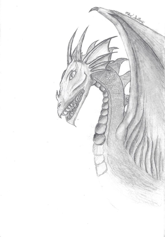 Dragon Drawing by Trodag