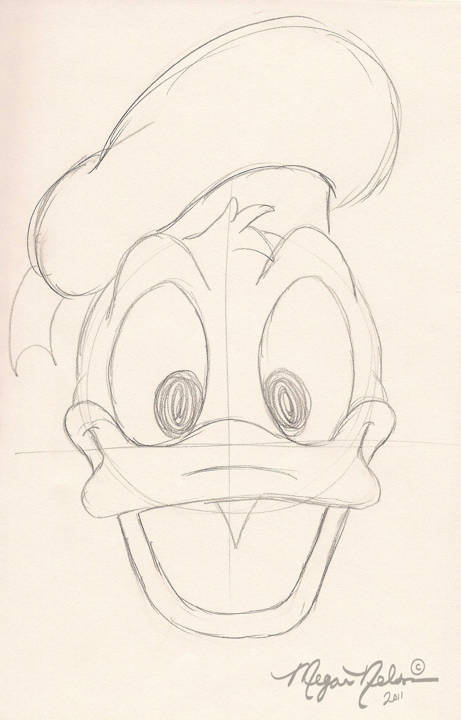 Donald Duck Drawing Face  Photo#23