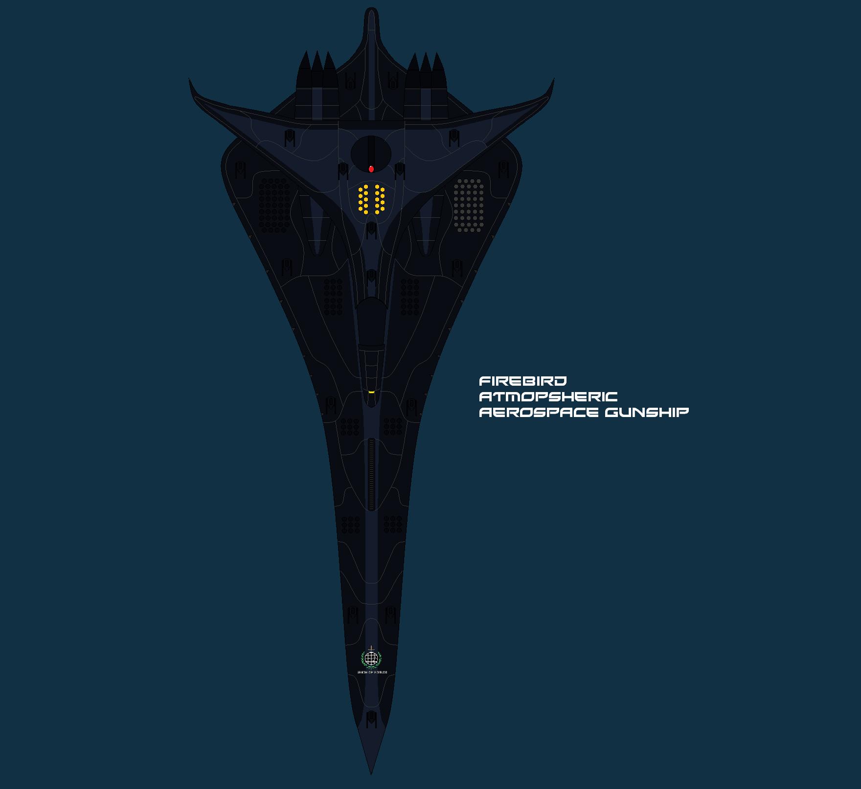 Fire Bird Orbital Defense Aerospace Gunship by EmperorMyric