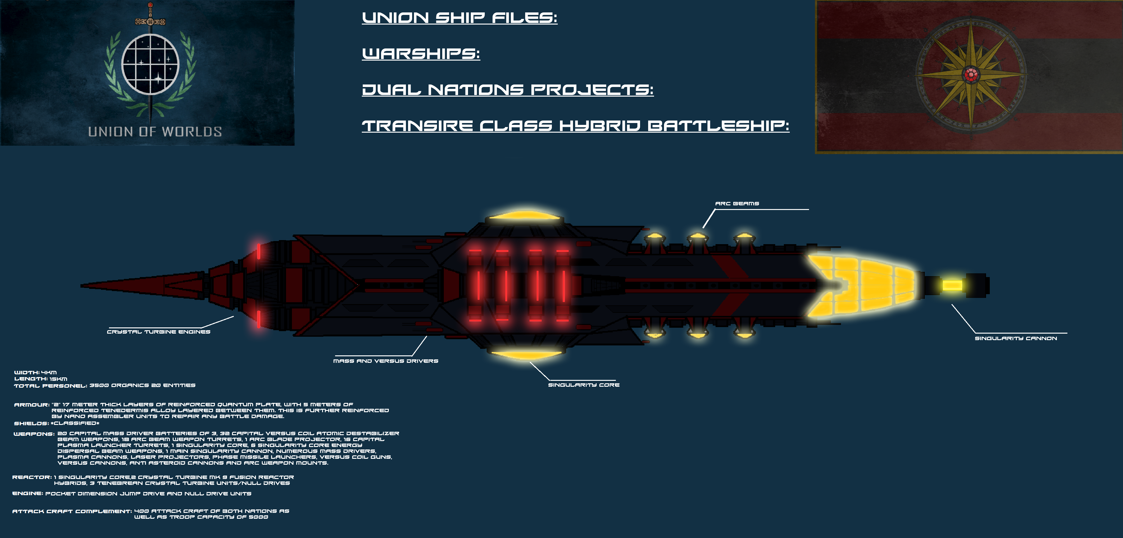 Transire Class Dual Nations Vessel by EmperorMyric