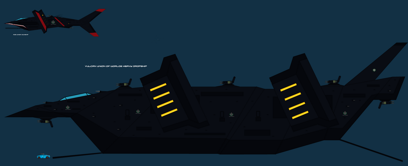 Vulcan UAC Orbital Dropship by EmperorMyric