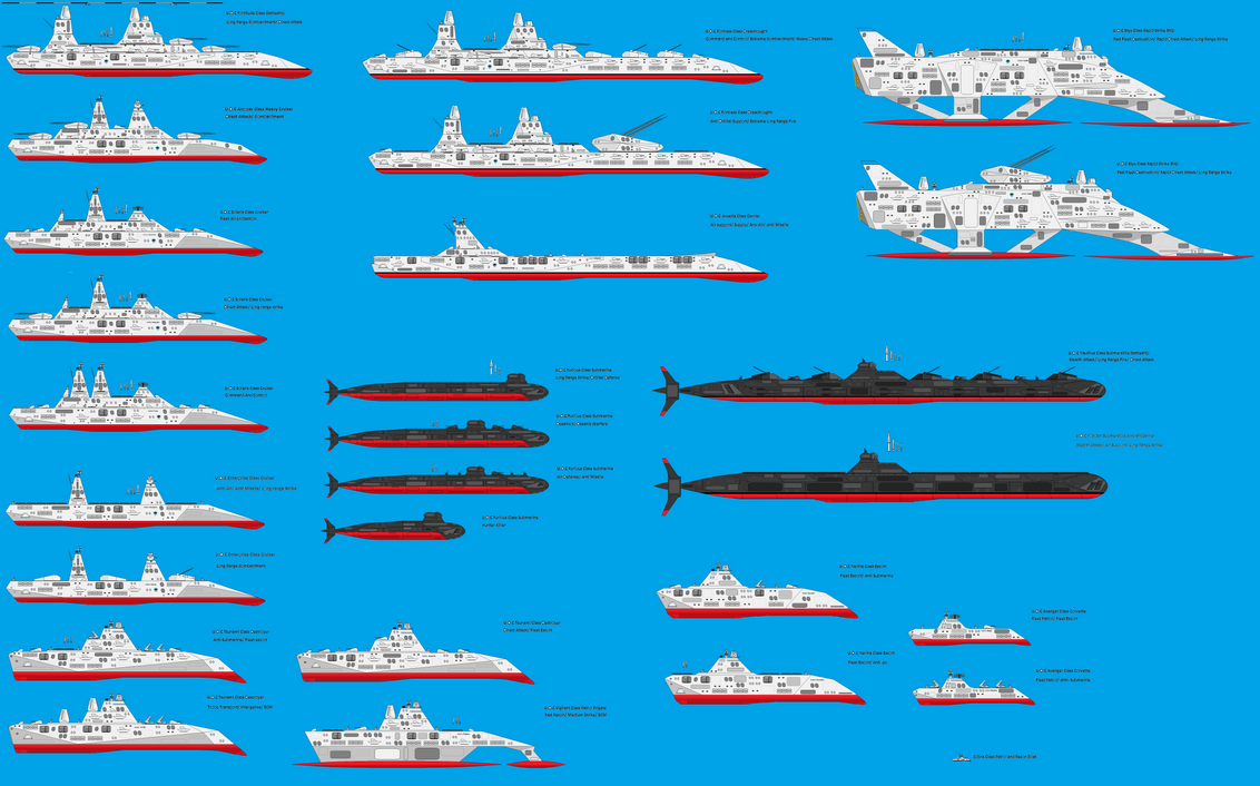 Union Oceanic ships WIP by EmperorMyric