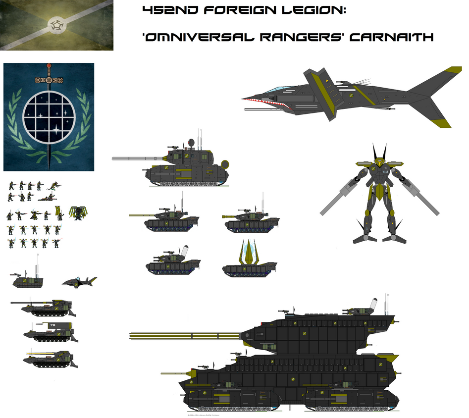 452nd Legion Omniversal rangers by EmperorMyric