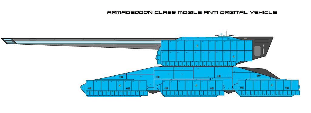 Armageddon Mobile Anti Orbital Mass Driver by EmperorMyric